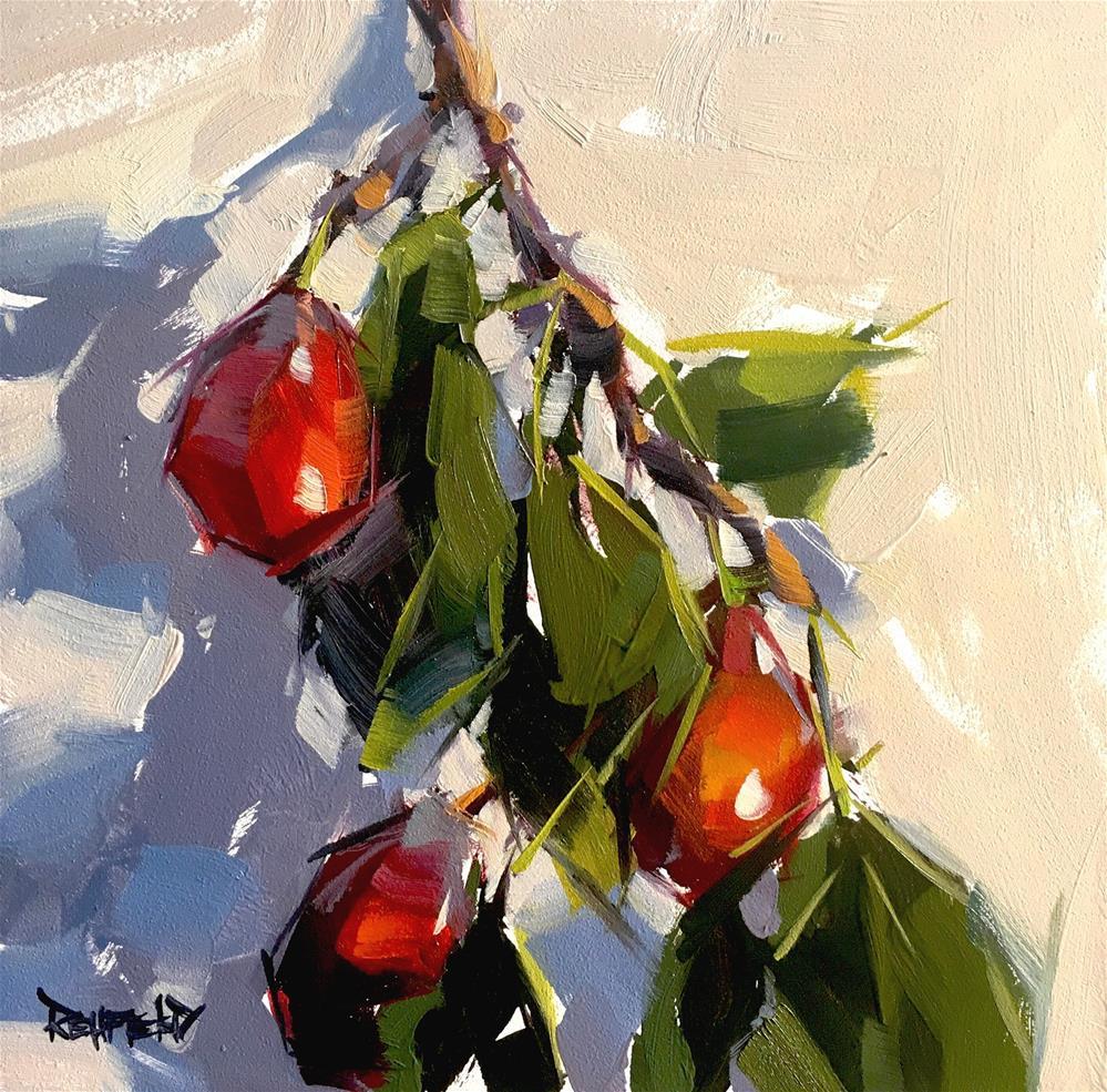 """Plum Impression"" original fine art by Cathleen Rehfeld"