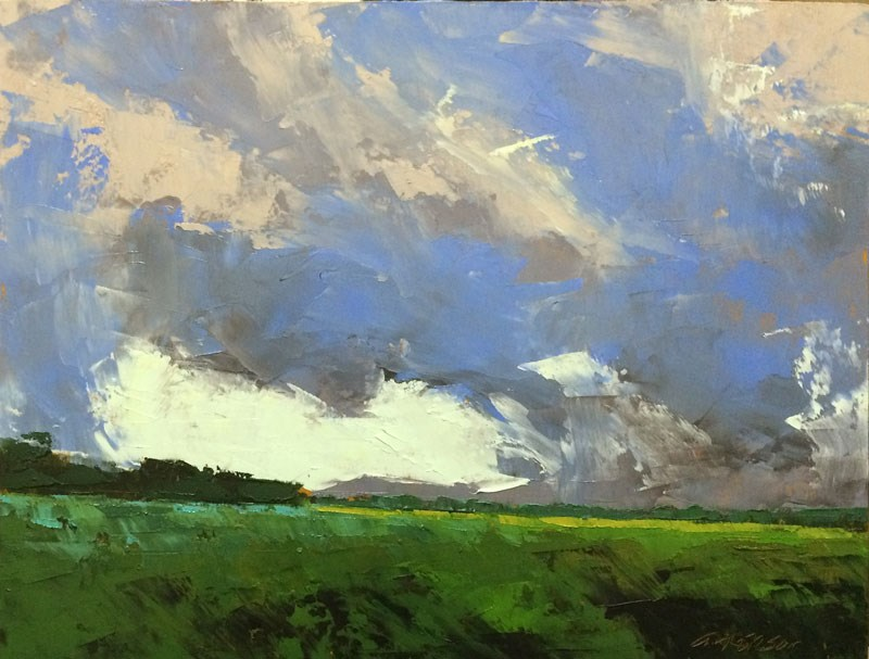 """May, Distant Rain"" original fine art by Mary Gilkerson"