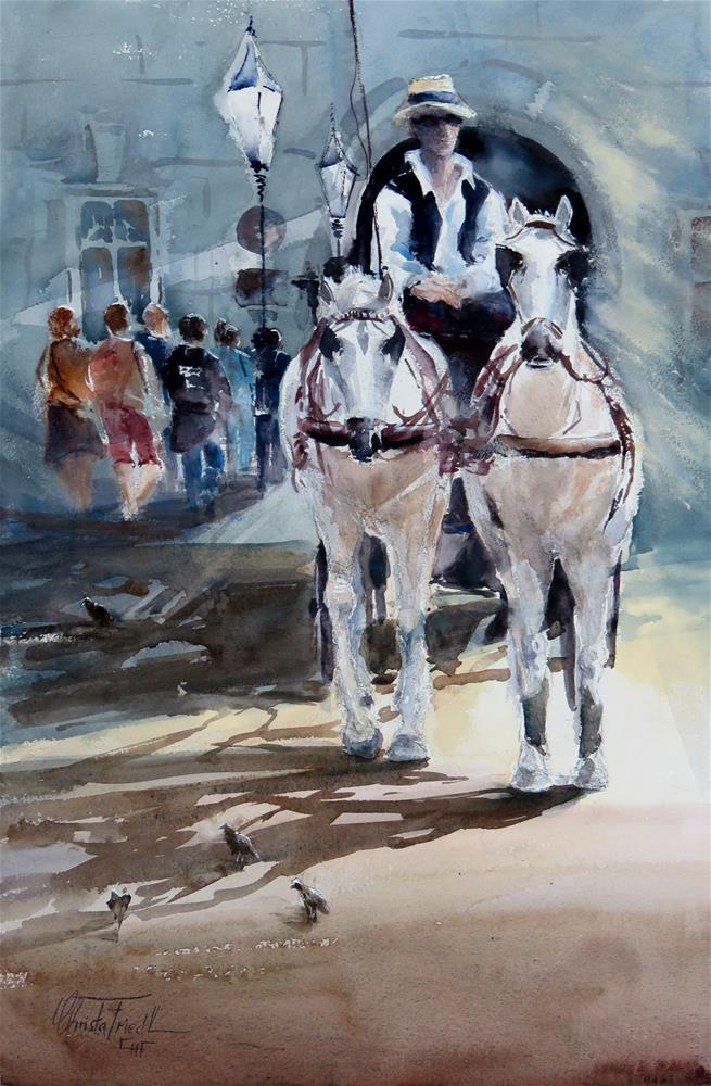"""Fiaker Vienna"" original fine art by Christa Friedl"