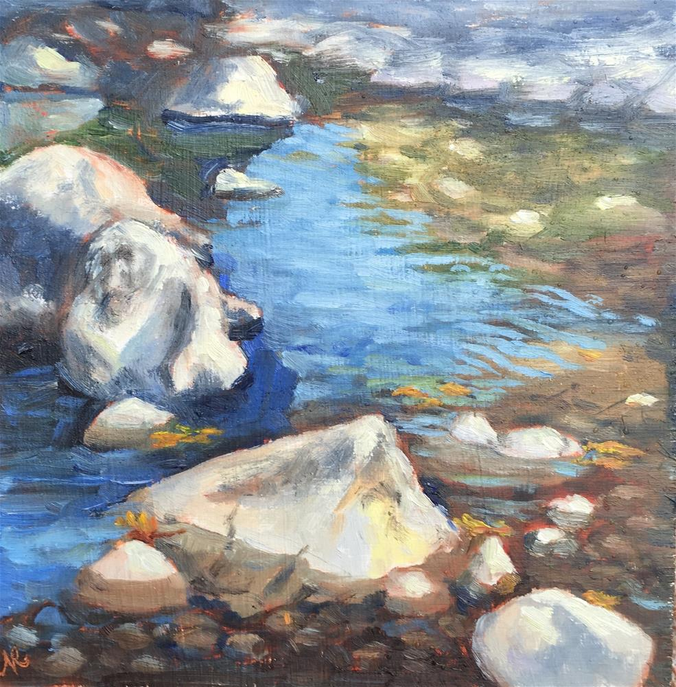 """Creek in early fall"" original fine art by Natasha Ramras"