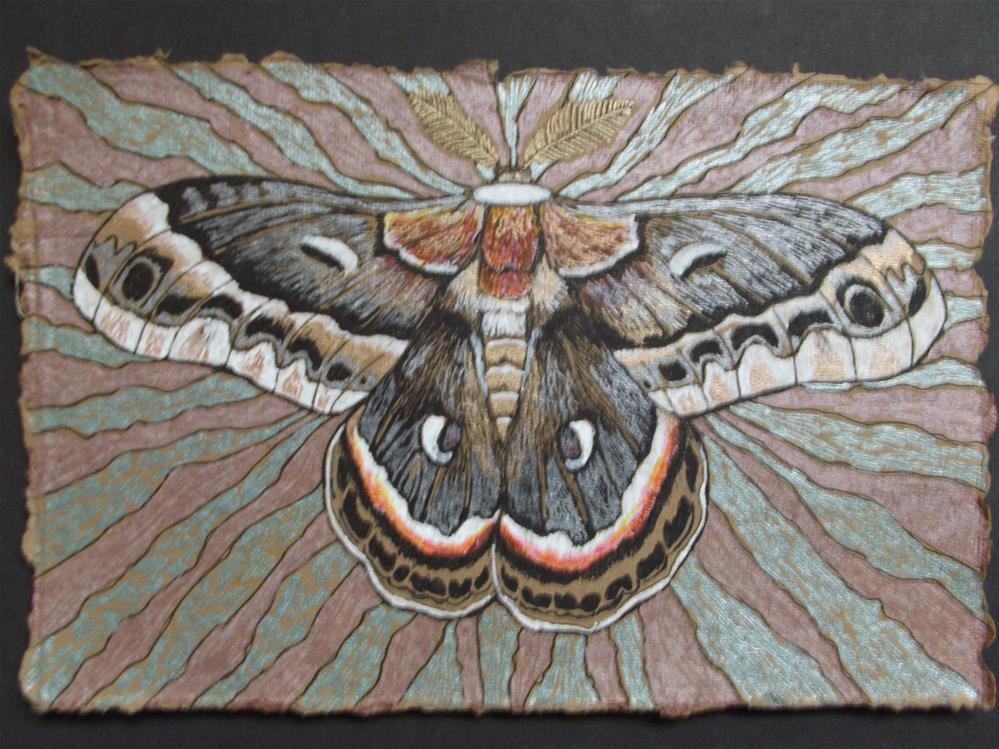 """Cecropia"" original fine art by wanda sigafus"