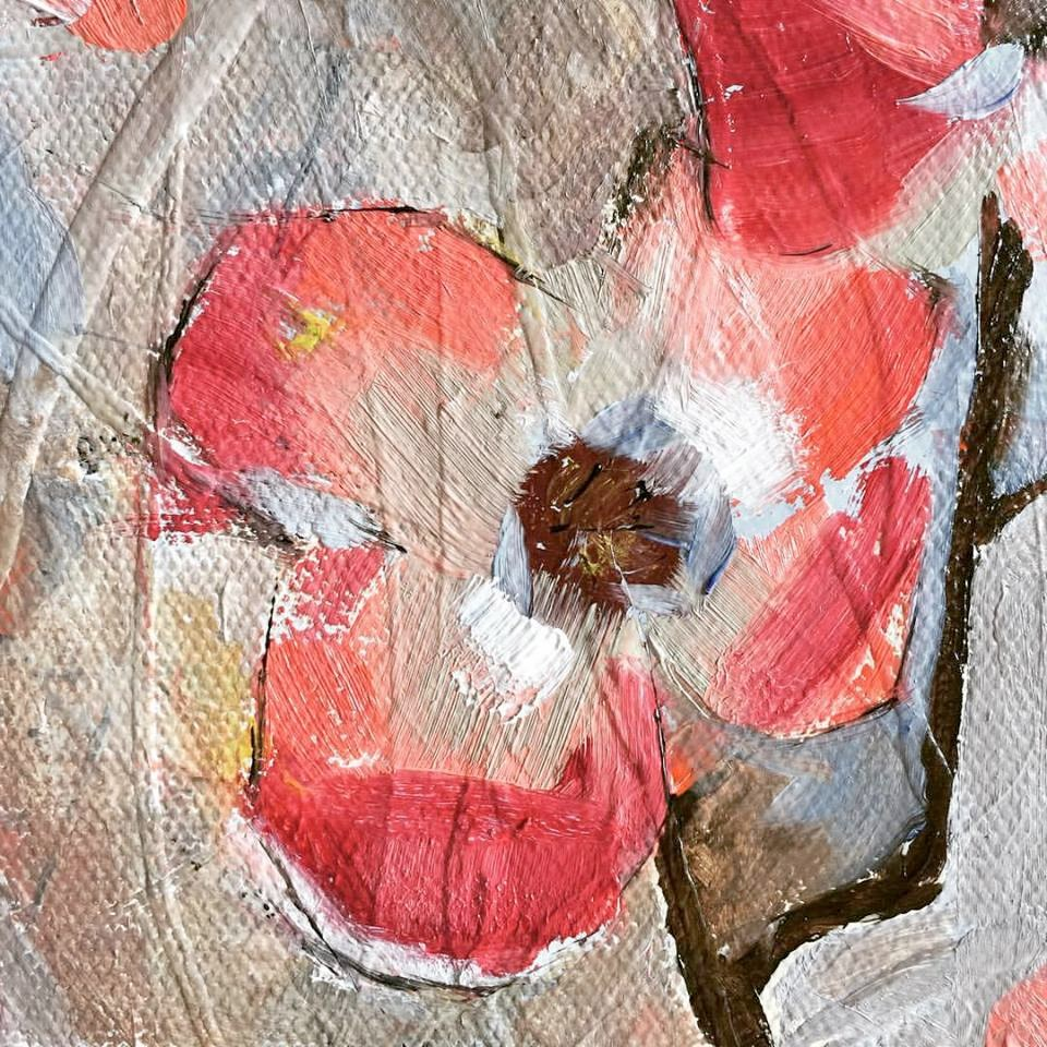 """""""Tiny Wildflower"""" original fine art by Jenny Doh"""