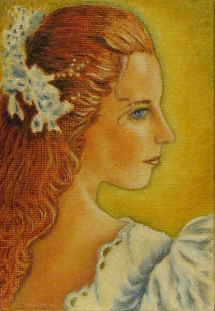 """""""Lady In Lace"""" original fine art by Mary Sylvia Hines"""