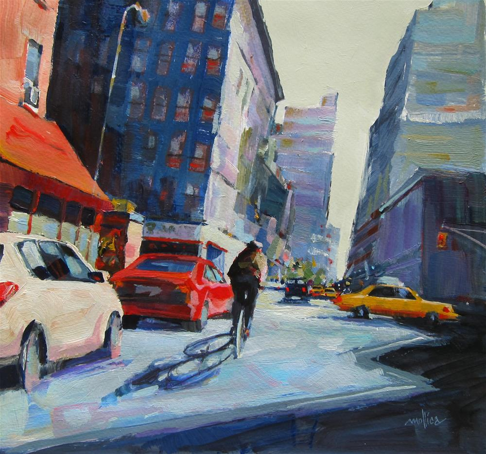 """Zig Zag thru Midtown"" original fine art by Patti Mollica"