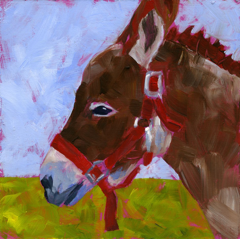 """""""Daphne, the  Donk-Kay"""" original fine art by Eileen Hennemann"""
