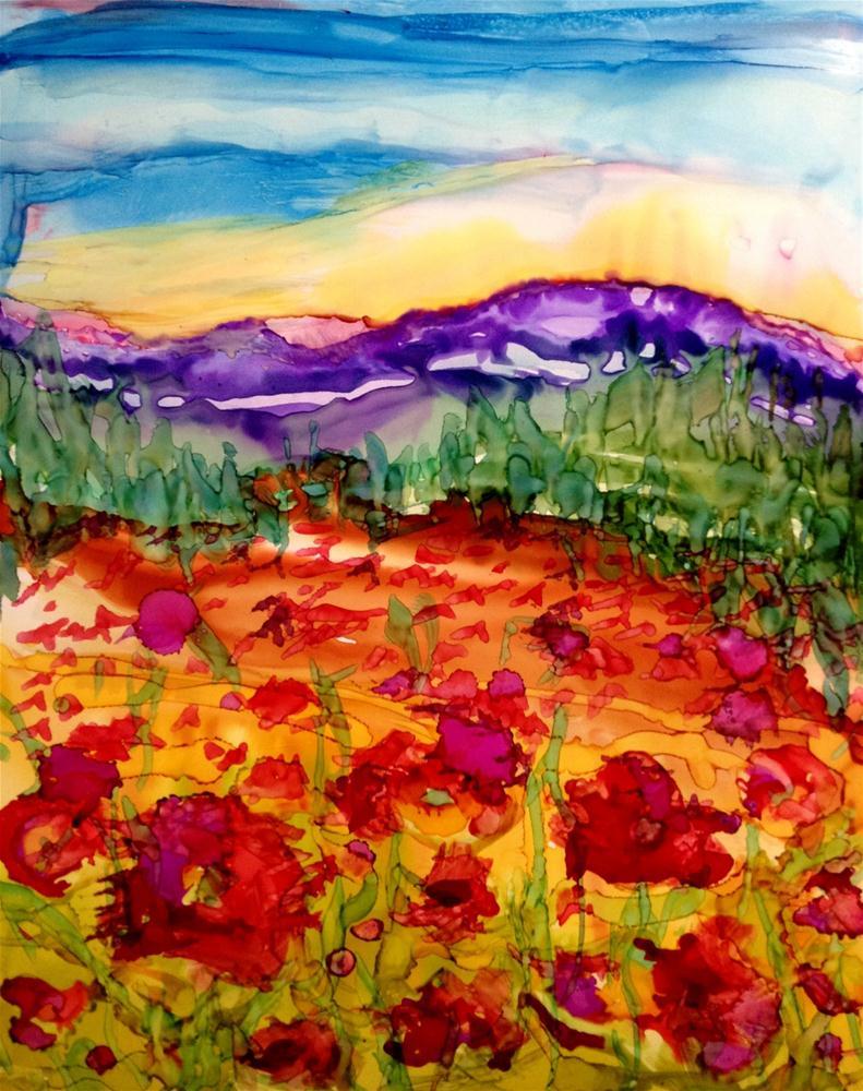 """Flower field 2"" original fine art by Kristen Dukat"