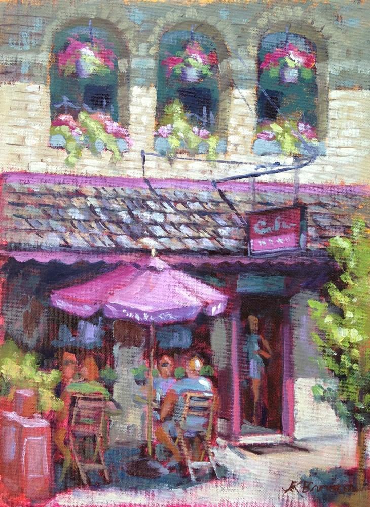 """Brunch at Campbell's Place"" original fine art by Jeanne Bruneau"