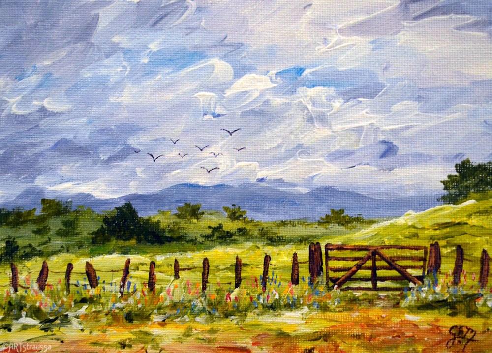 """Hillside Pastures"" original fine art by Gloria Ester"