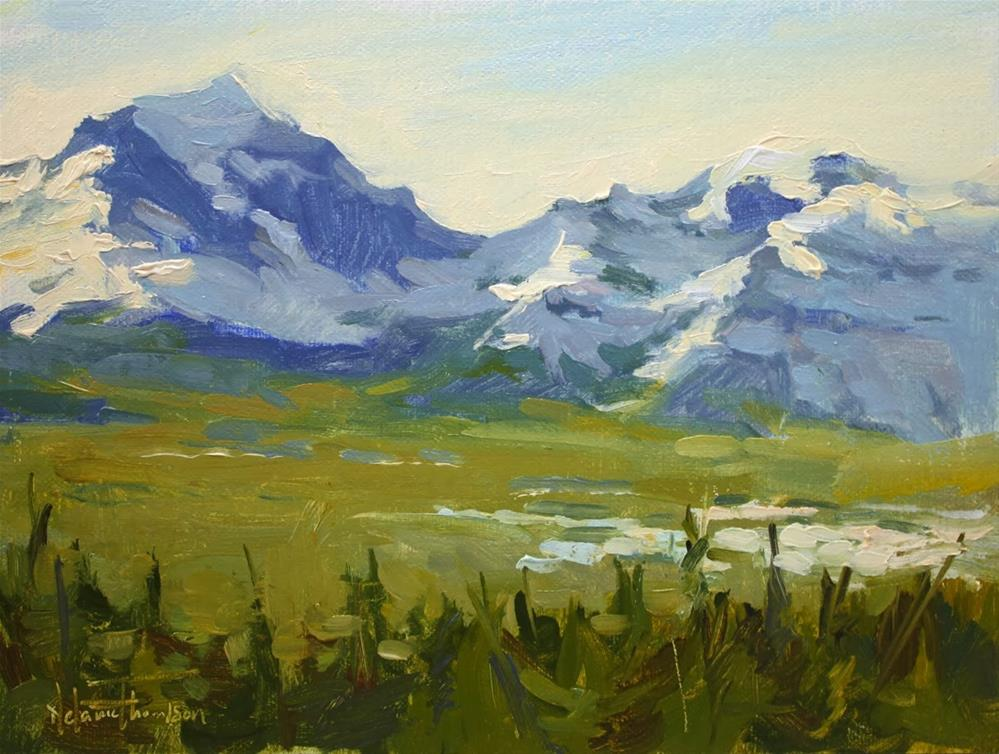 """Across Bow Valley"" original fine art by Melanie Thompson"