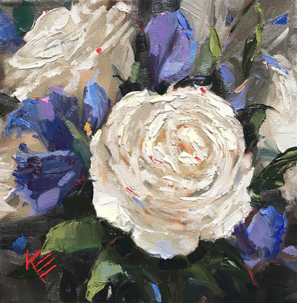 """White Rose"" original fine art by Krista Eaton"