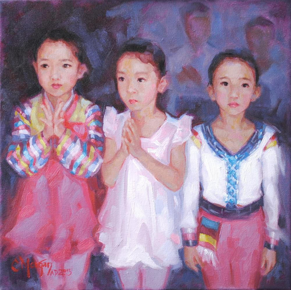 """""""To Such As These: Young Performers in North Korea"""" original fine art by Cecile W. Morgan"""