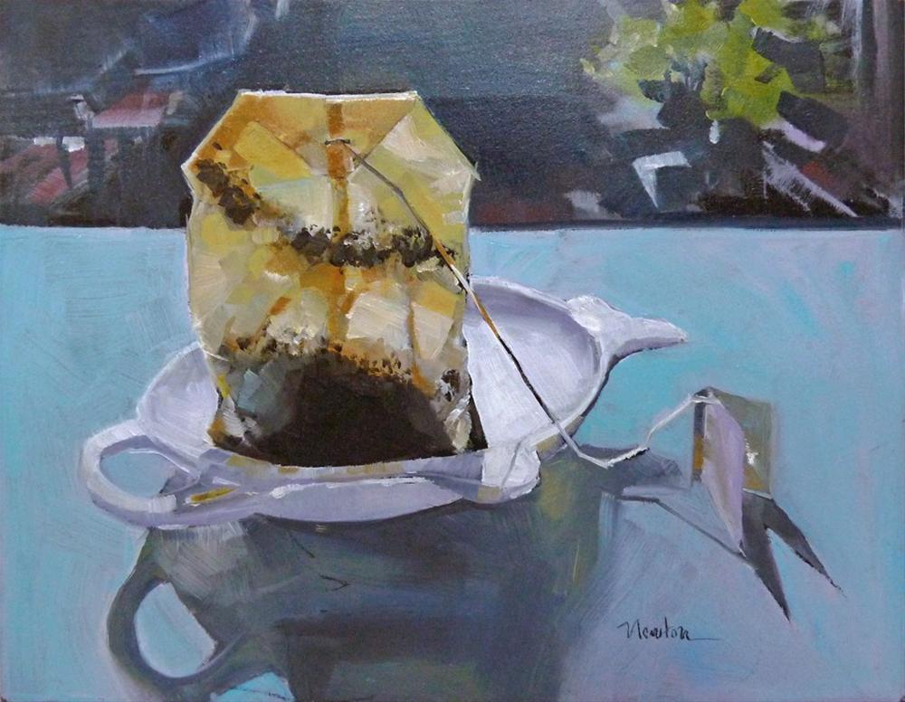 """Morning Tea"" original fine art by Barbara Benedetti Newton"