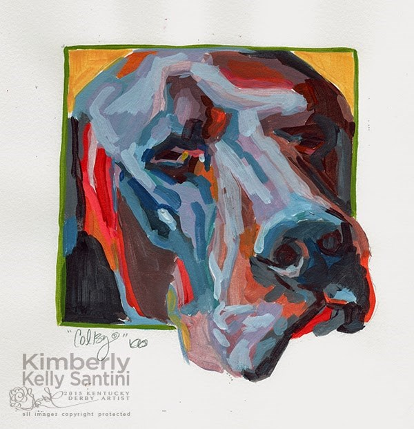 """""""Colby, Painted Sketch"""" original fine art by Kimberly Santini"""