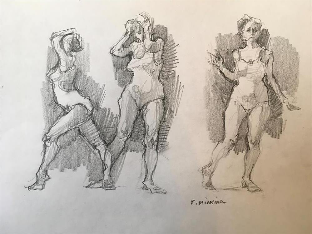 """Figuary18"" original fine art by Katya Minkina"