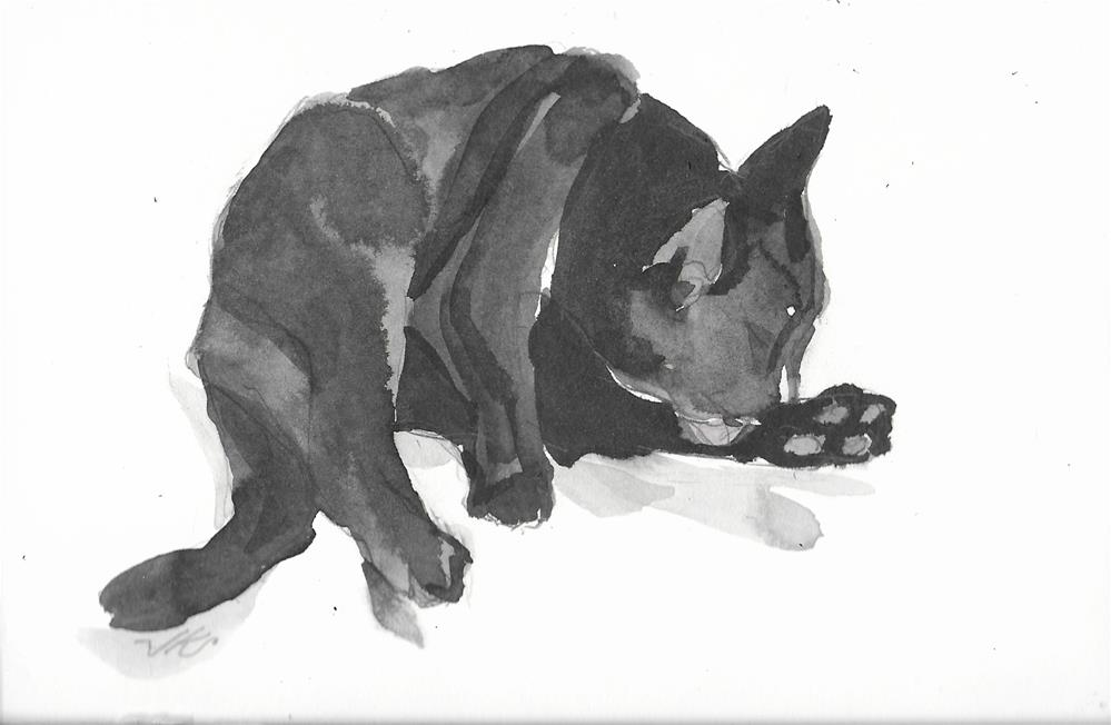 """Daily Cat 49"" original fine art by Jean Krueger"