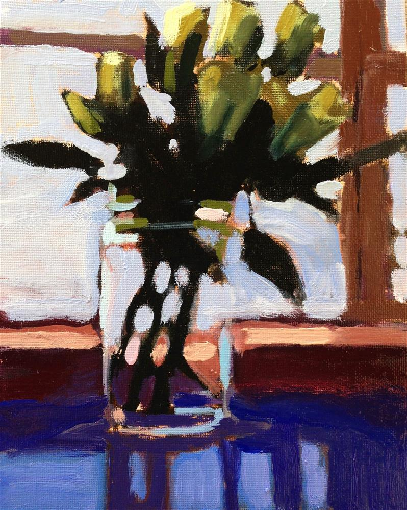 """Greeny White"" original fine art by Pamela Hoffmeister"