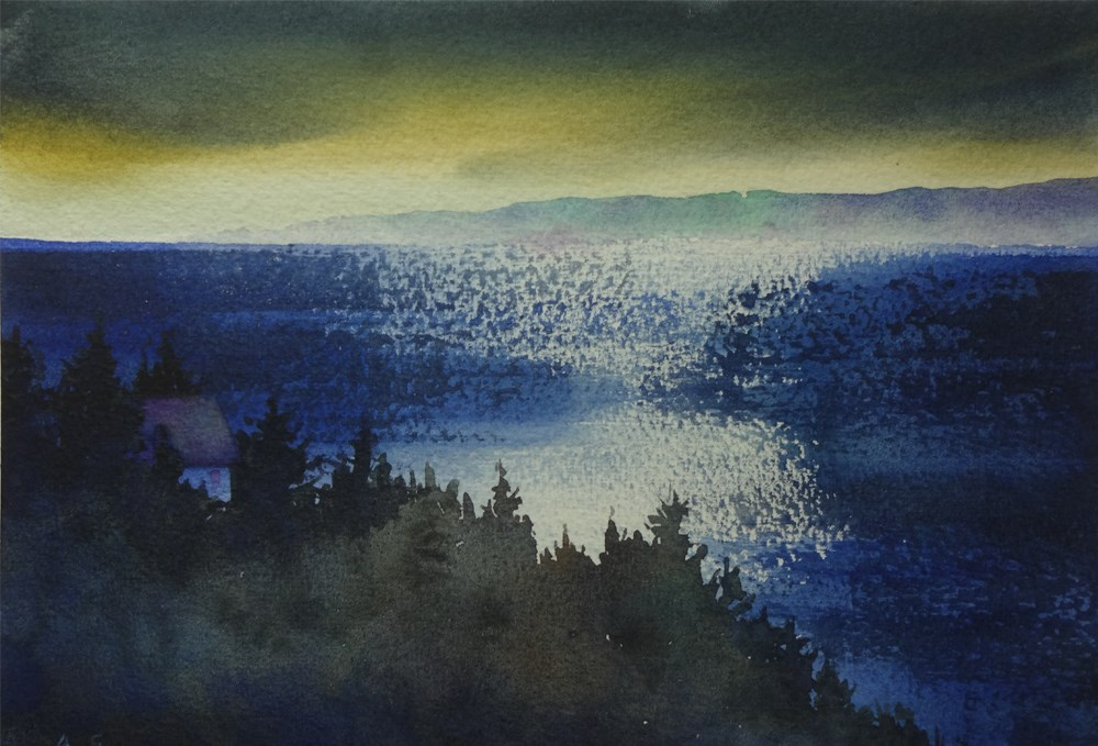 """""""Evening Reflections"""" original fine art by Arena Shawn"""