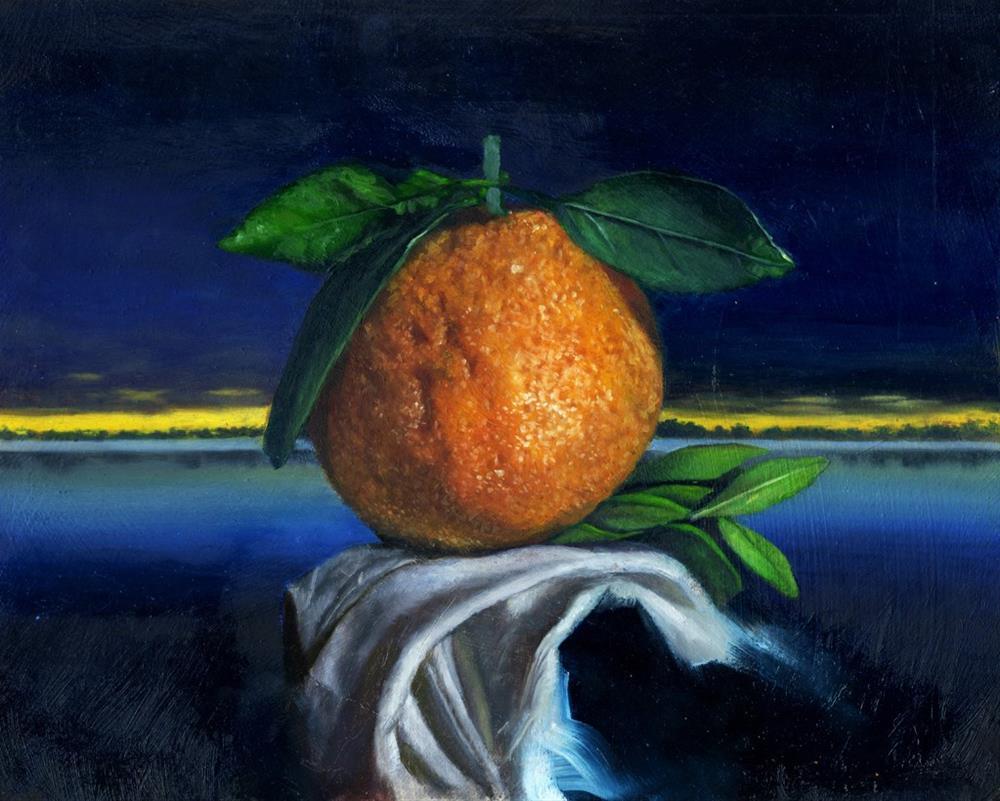 """Twilight-Oranges"" original fine art by Paulo Jimenez"