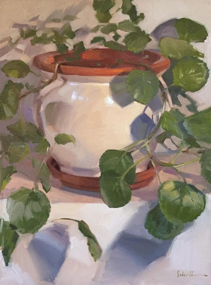 """""""Swedish Ivy: A Painting and a Video"""" original fine art by Sarah Sedwick"""