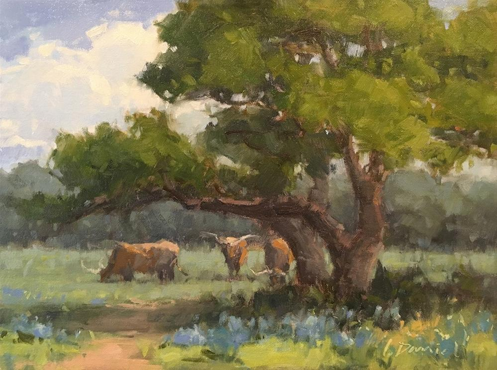 """Texas Spring (study for commission)"" original fine art by Laurel Daniel"