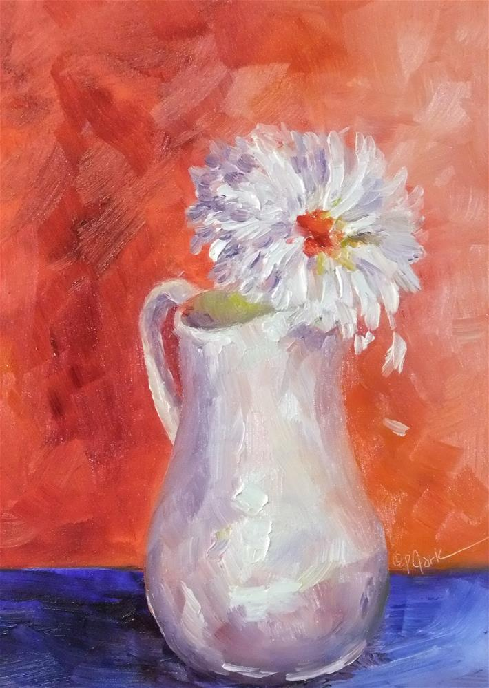 """""""She Loves Me, She Loves Me Not"""" original fine art by Donna Pierce-Clark"""