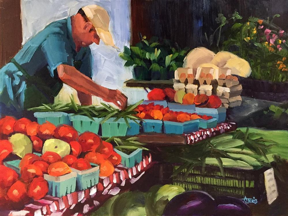 """Tomatoes"" original fine art by Andrea Jeris"