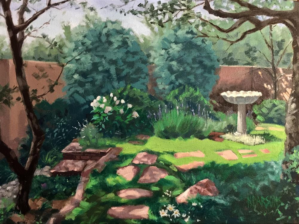 """A Portrait of La La's Garden"" original fine art by Nancy Parsons"