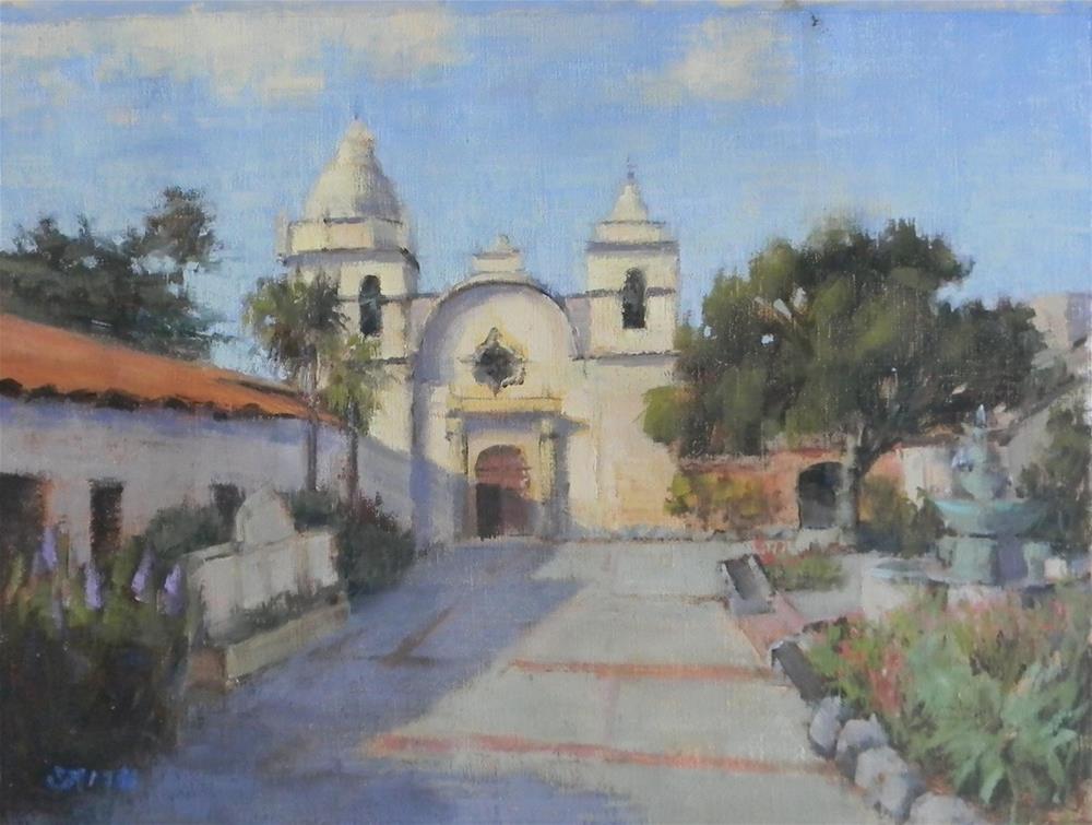 """""""San Carlos Borromeo de Carmelo Mission"""" original fine art by Barbie Smith"""