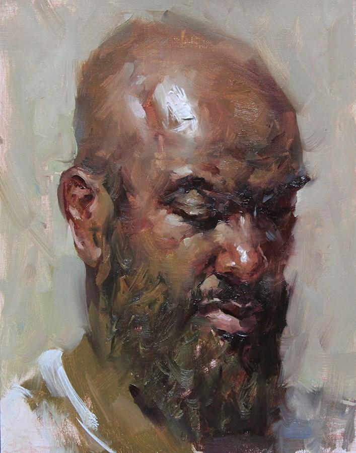 """Marvin"" original fine art by Fongwei Liu"