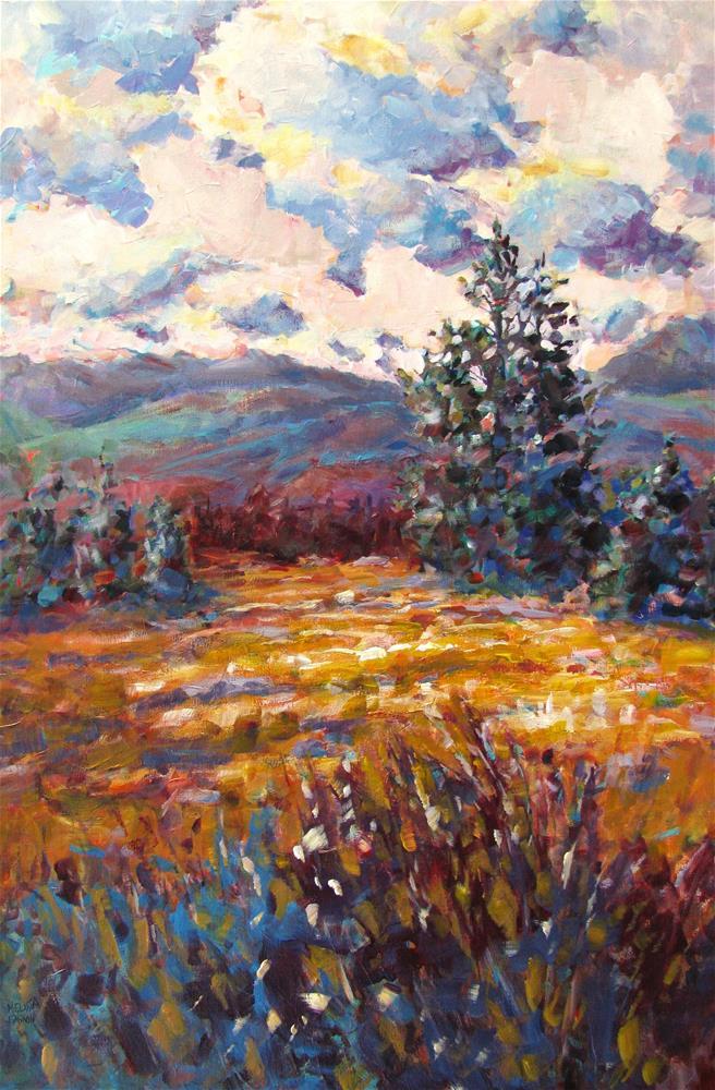 """Summer Fields of Gold"" original fine art by Melissa Gannon"