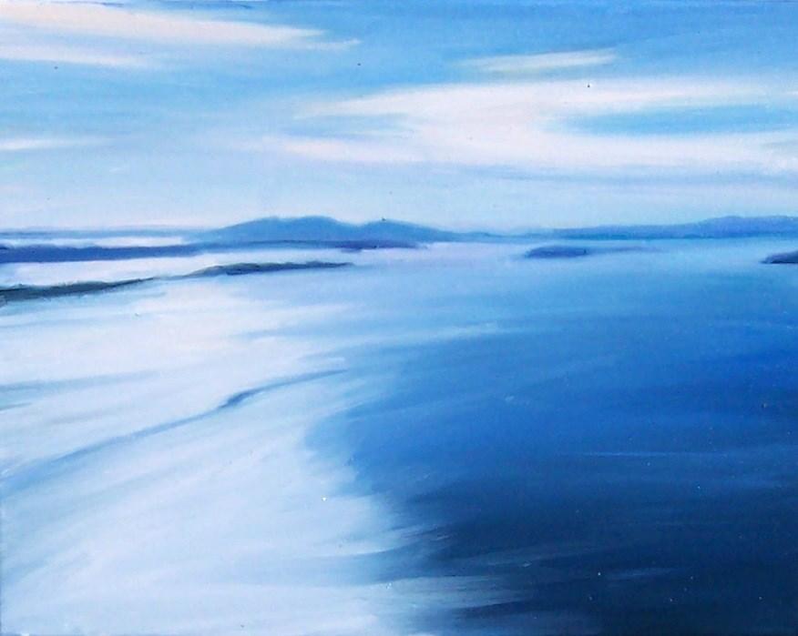 """Coastal Light,seascape,oil on canvas,11x14,price$700"" original fine art by Joy Olney"
