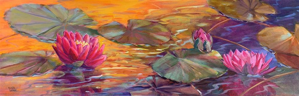 """""""Waterlily Smiles"""" original fine art by Melissa Gannon"""