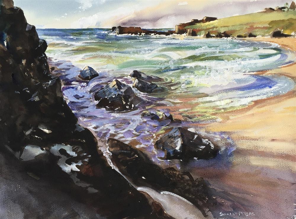 """Kiama in the Morning Sun"" original fine art by Shirley Peters"