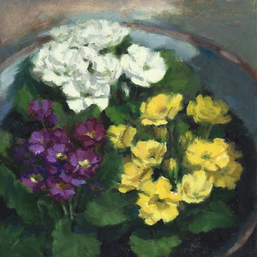 """Color in the Wash Basin"" original fine art by Linda Jacobus"