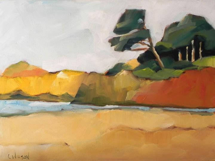 """Mendocino Cypress"" original fine art by Cheryl Wilson"