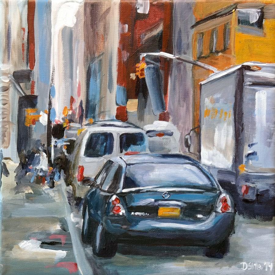 """""""0986 My Busy City Challenge"""" original fine art by Dietmar Stiller"""