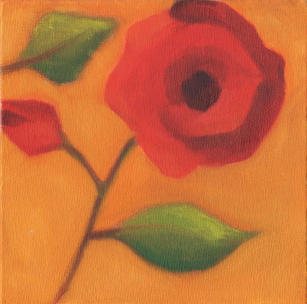 """Red Poppy"" original fine art by Susan Bertocci"
