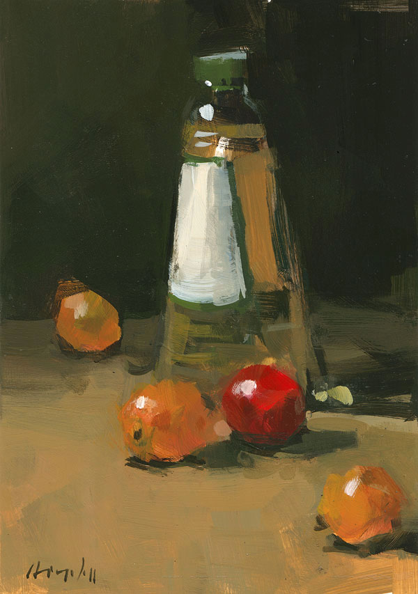 """Cherry Tomatoes and Oil"" original fine art by David Lloyd"