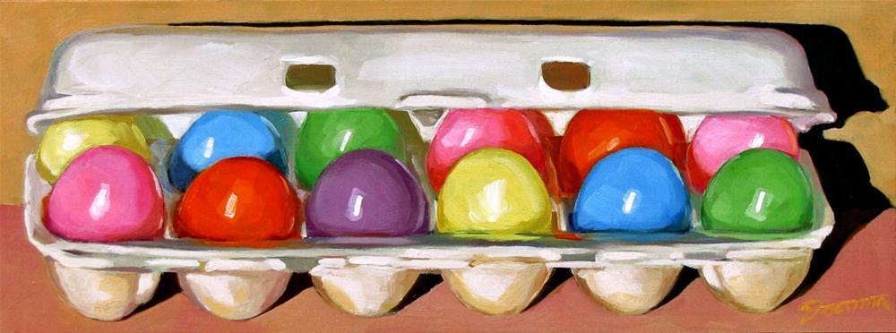 """Hunting Eggs"" original fine art by Joanna Bingham"