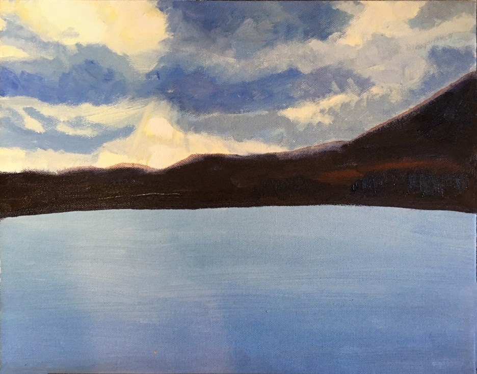 """Holyoke Reservoir"" original fine art by Betsy Cook"