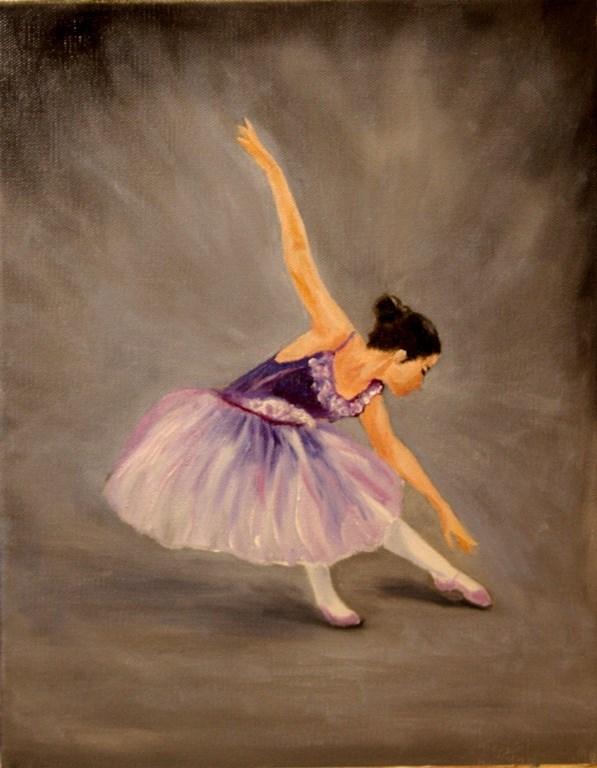 """Ballerina in Purple"" original fine art by Mary Datum"