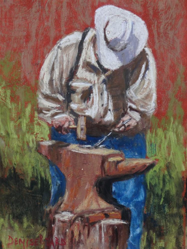 """Blacksmith"" original fine art by Denise Beard"