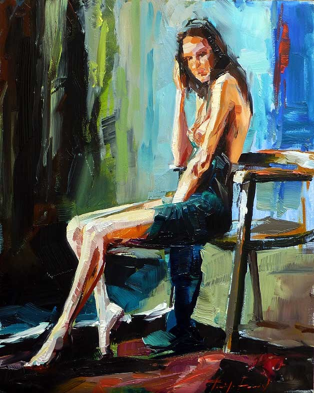 """Model"" original fine art by Jurij Frey"