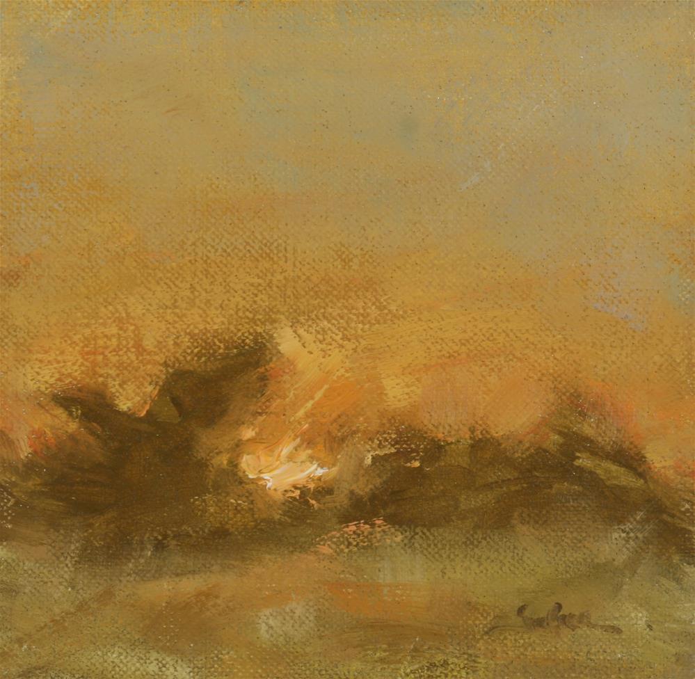 """""""fall Sunset 06"""" original fine art by Scott Serafica"""