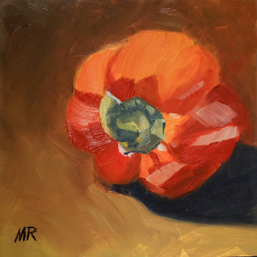 """""""Red Beauty"""" original fine art by Michelle Rideout"""