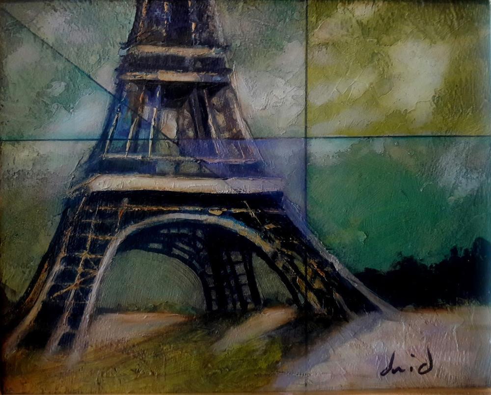 """Paris Moonlight"" original fine art by David Larson Evans"