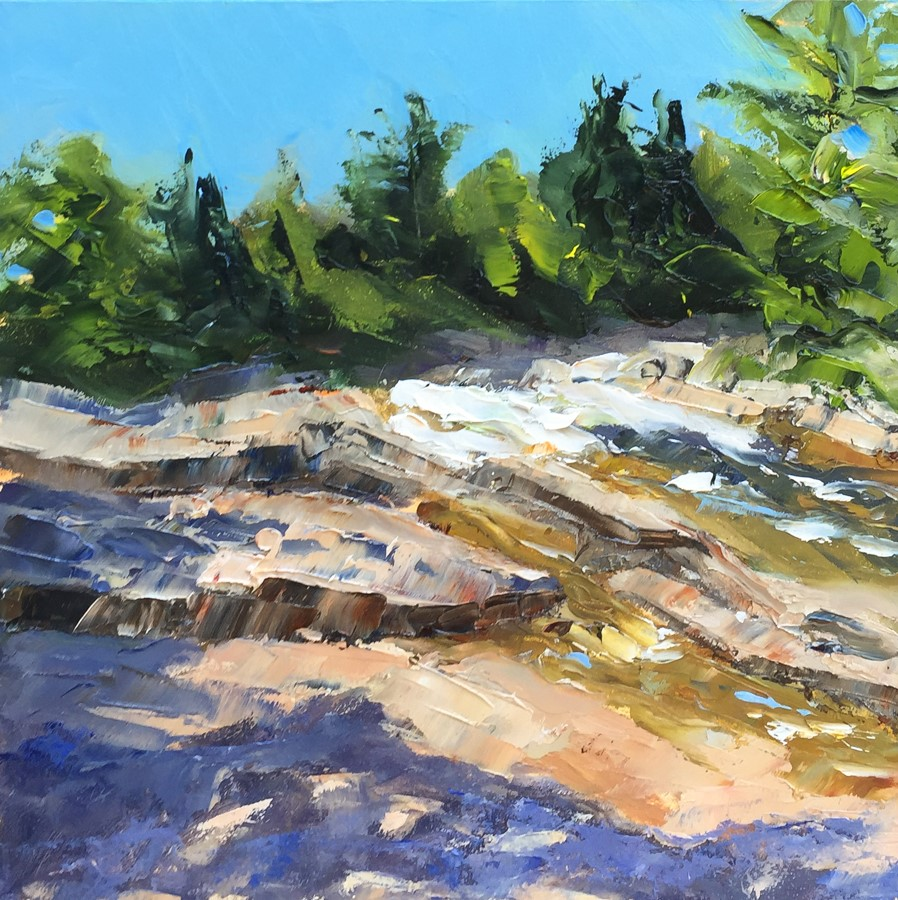 """#150 - Swift River - White Mountains, NH"" original fine art by Sara Gray"