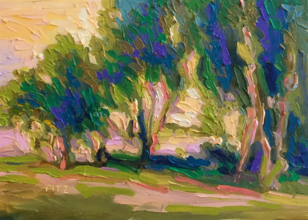"""Impasto Landscape Study 4"" original fine art by Charlotte Fitzgerald"
