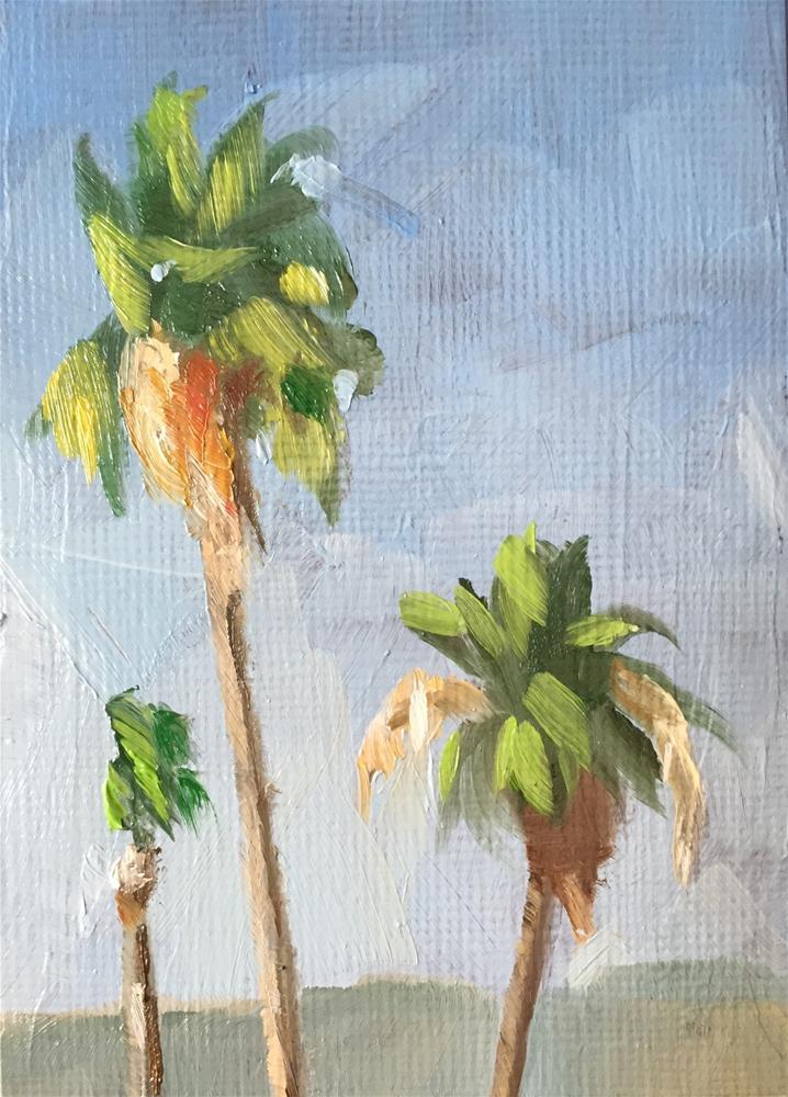 """Three Palms"" original fine art by Gary Bruton"