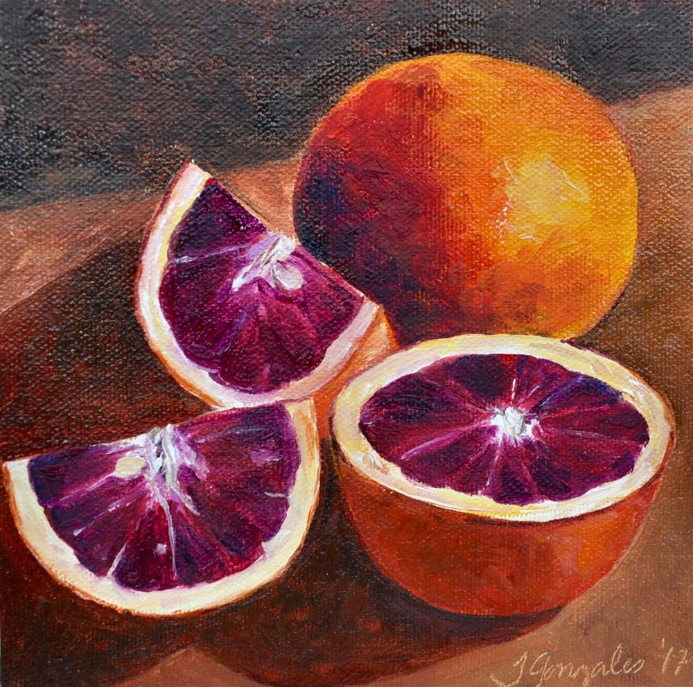 """Blood Red Oranges"" original fine art by Theresa Gonzales"
